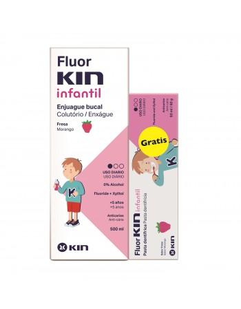 FLUORKIN INFANTIL ENJUAGUE 500ML + PASTA 50ML GRATIS