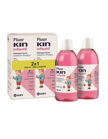 FLUORKIN INFANTIL ENJUAGUE BUCAL 500 ML 2x1