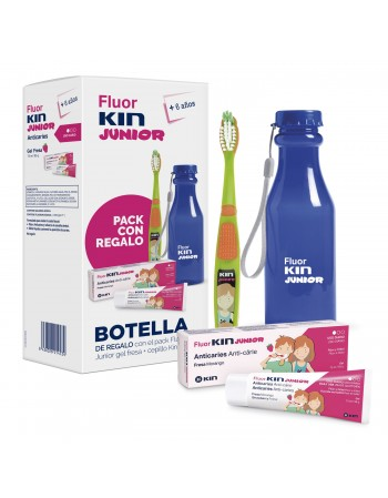 FLUORKIN JUNIOR GEL FRESA 75ML +CEPILLO+BOTELLA GRATIS