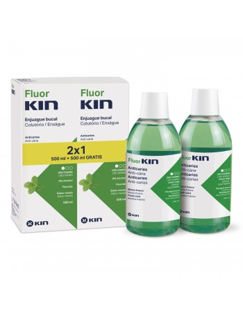 FLUORKIN ANTICARIES ENJUAGUE BUCAL 500 ML 2x1