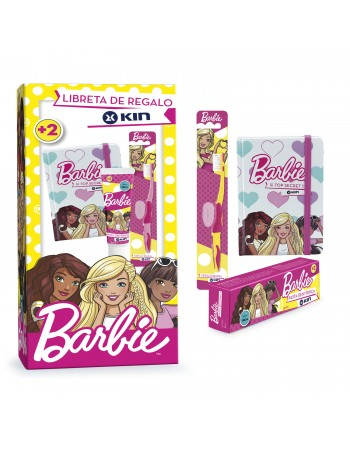 BARBIE PASTA DENTÍFRICA +CEPILLO DENTAL+LIBRETA GRATIS